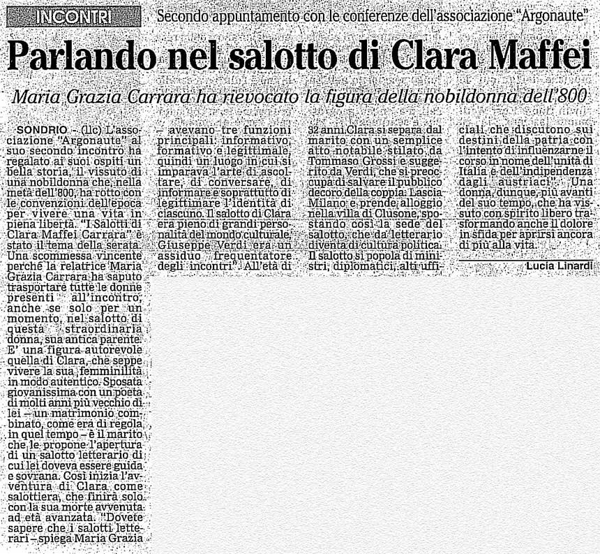 2005-01-27 Parlando nel salotto di Clara Maffei