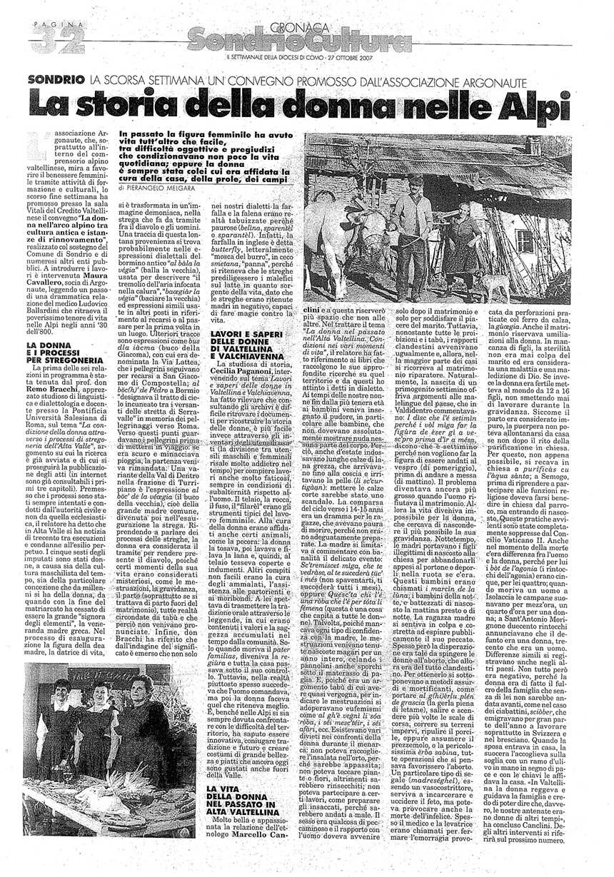2007-10-27 La storia della donna nelle Alpi