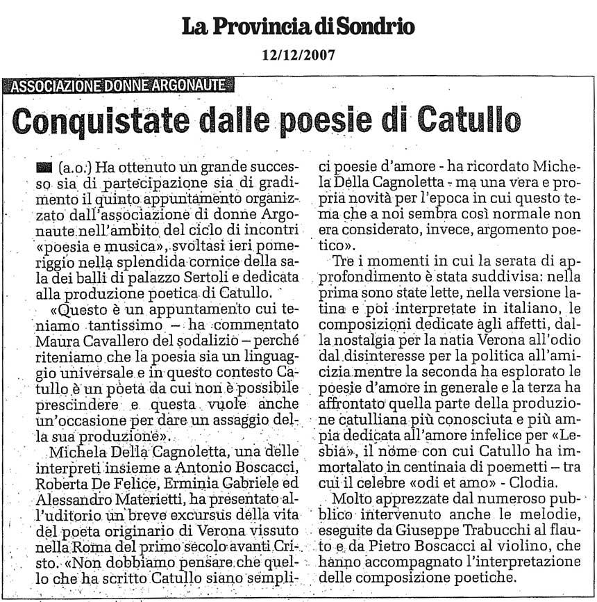 2007-12-12 Conquistate dalle poesie di Catullo