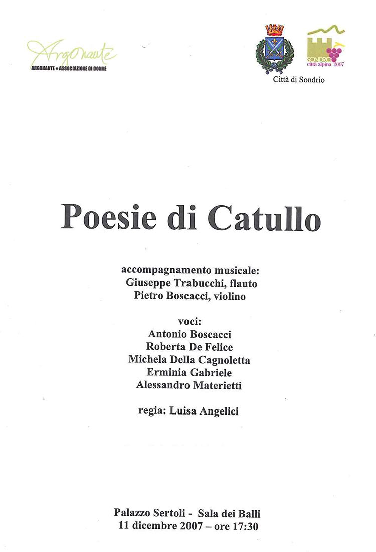 Poesie di Catullo Presentazione