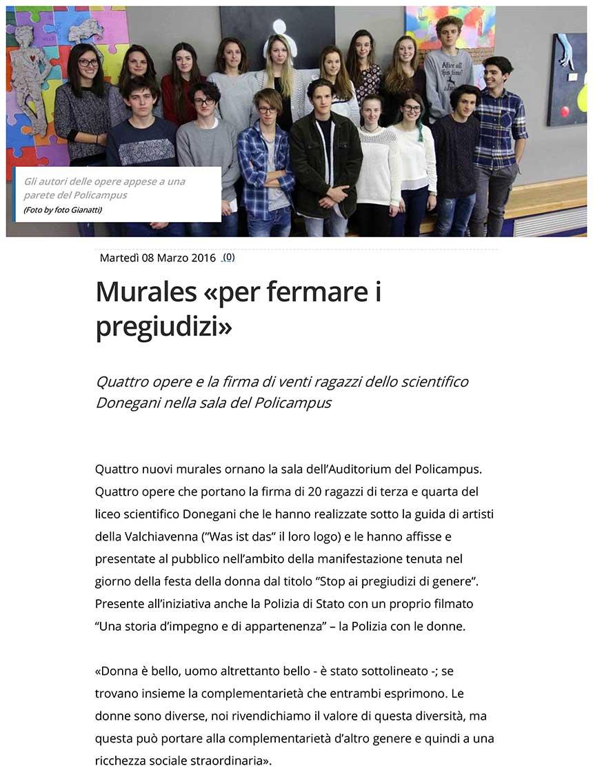 "2016-03-08Murales ""per fermare i pregiudizi"""