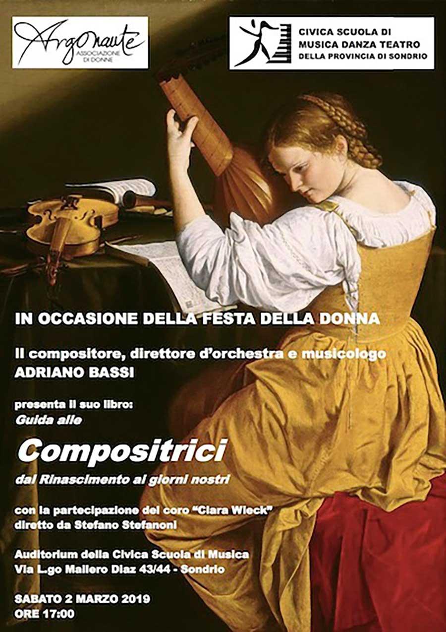 Presentazione del libro Guida alle Compositrici dal Rinascimento ai Giorni Nostri di Adriano Bassi Volantino