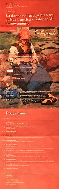 La donna nell'arco alpino fra cultura antica e istanze di rinnovamento - Locandina